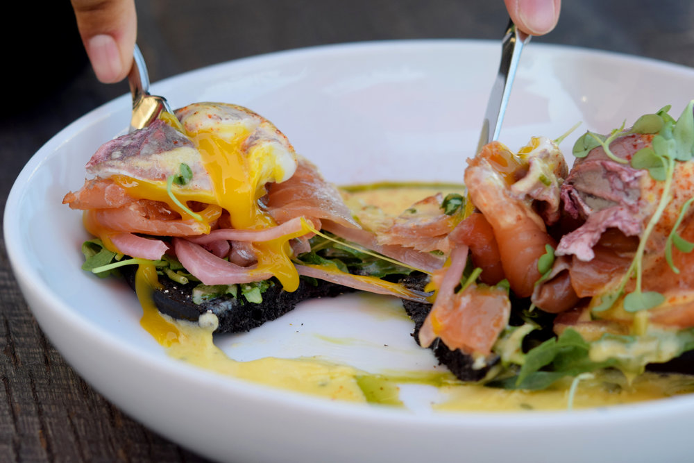 Smoked Salmon Benedict | photo courtesy of 100eats
