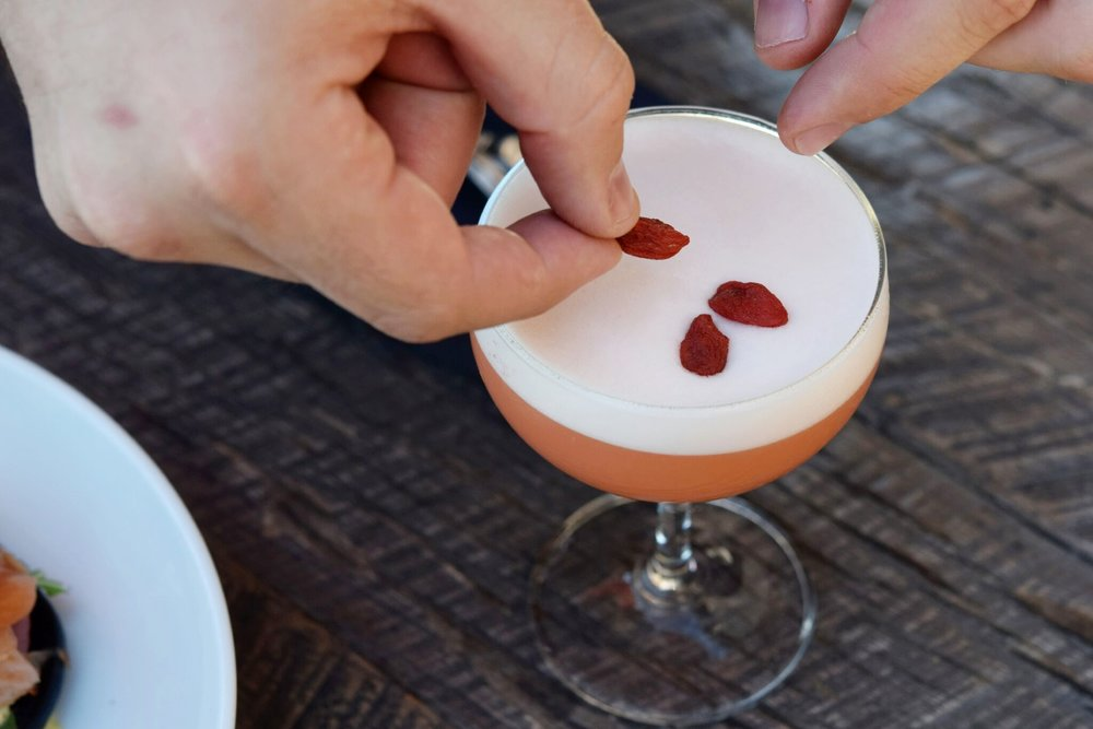 Treat yourself to some Goji Berry and rum magic over at The Recess Room this National Rum Day | photo courtesy of 100eats