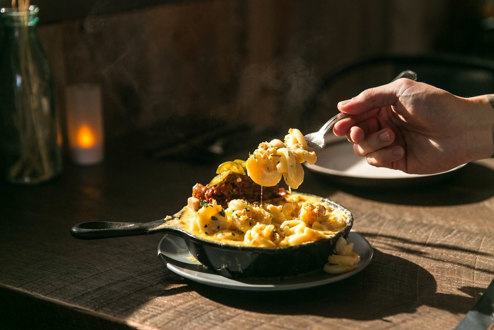 The Bone Marrow Mac and Cheese from The Recess Room will have you already planning your next visit to this Fountain Valley hot spot | photo courtesy of 100eats