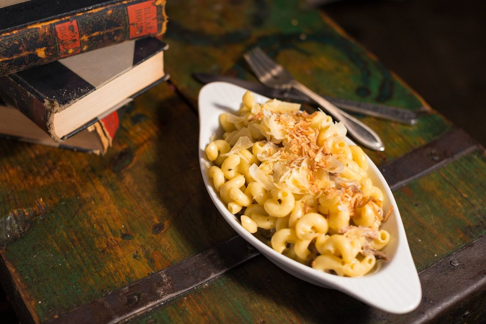 Don't skip the Duck Confit Mac and Cheese at The Blind Rabbit during National Cheese Month, you'll regret it | photo courtesy of 100eats