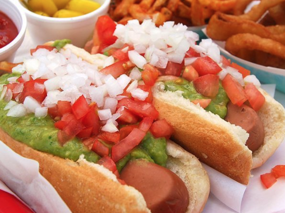 Because, what's more handheld than a hot dog? | photo courtesy of Pink's on instagram