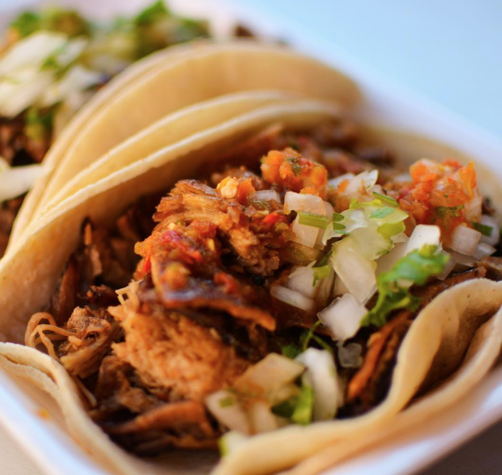 All Southern Californian's know that a good street taco is the perfect on-the-go meal | photo courtesy of Villa Moreliana on instagram
