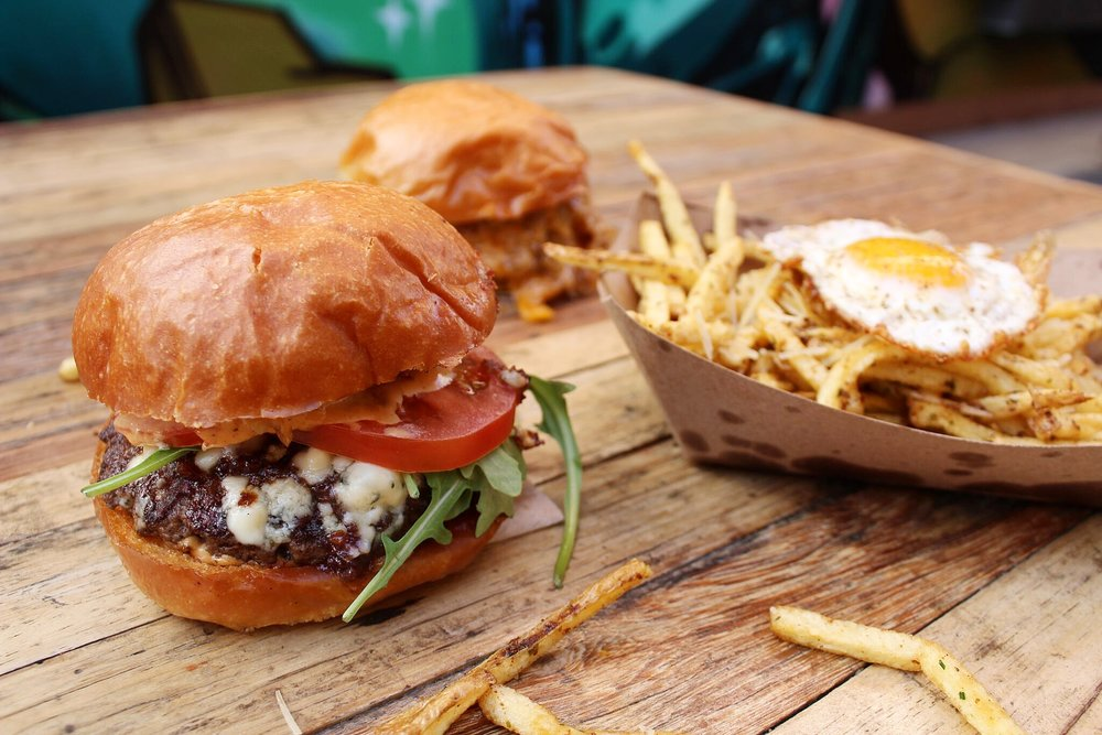 Gourmet burgers and fresh cut fries from GRAZE at 4th St Market | photo courtesy of 100eats