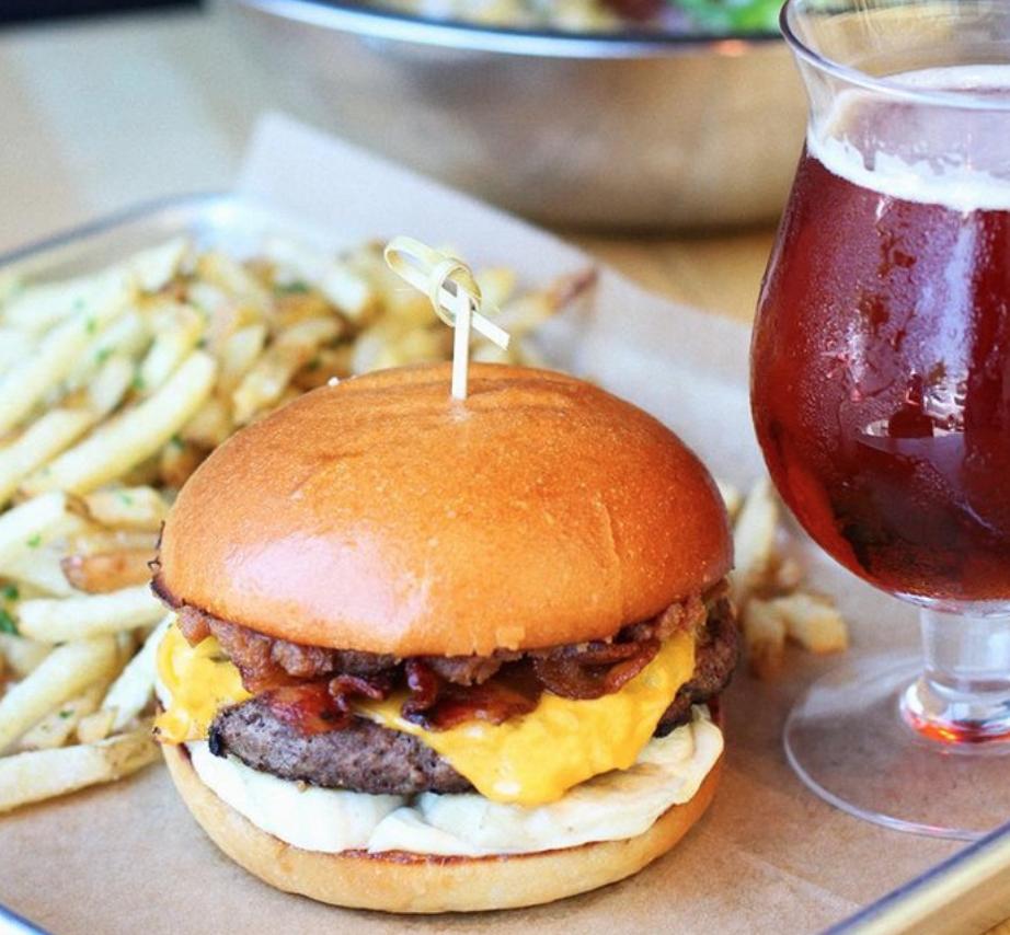 The Elvis burger at HopDoddy | photo courtesy of HopDoddy Burger Bar