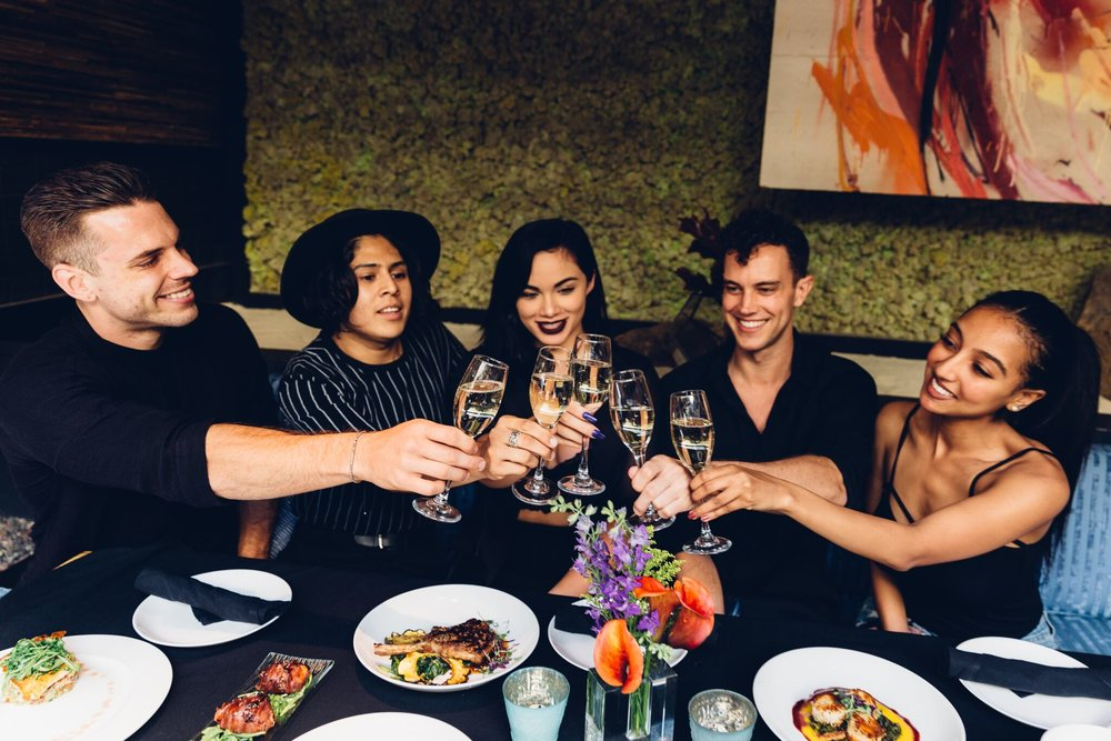 Cheers to good company and live entertainment with the whole crew at Mesa | photo courtesy of Sarah King