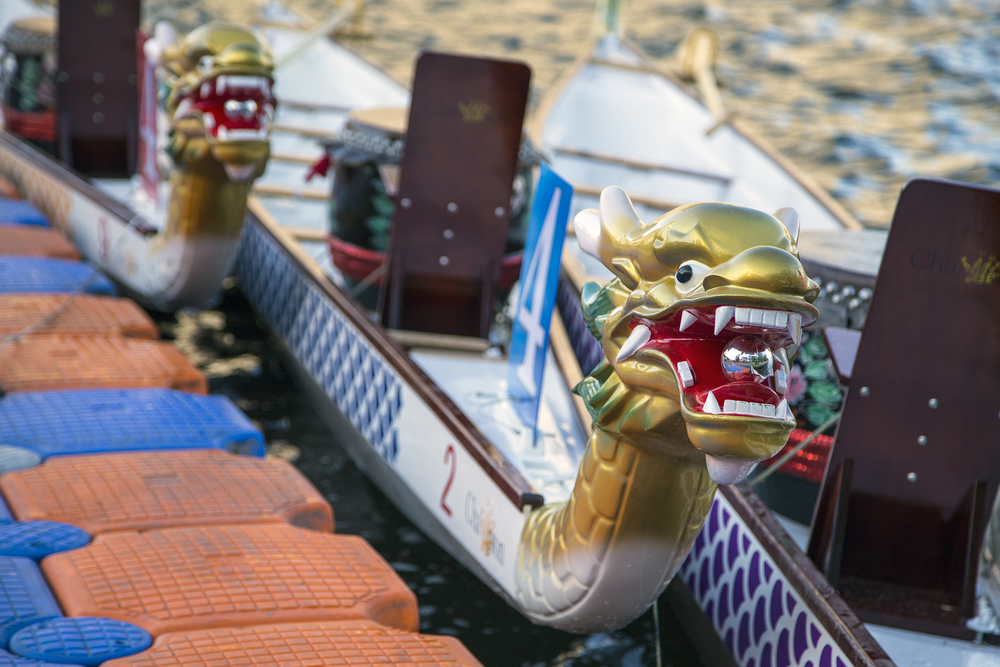 10-person dragon boats are completely new to the Harvard team