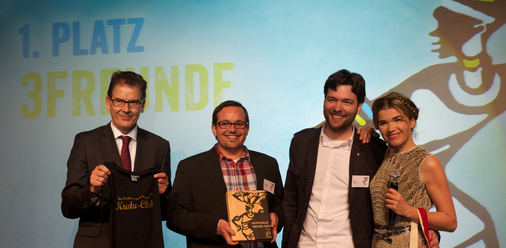 3FREUNDE win a 2014 International Fairtrade award