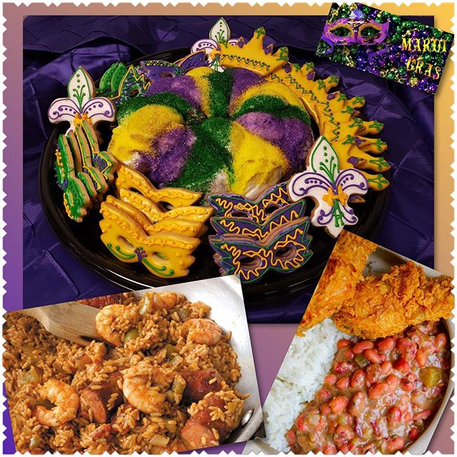 Getting ready for tomorrow...2019 Mardi Gras!  Red Beans and Rice, Jambalaya, Fried Chicken and of course a King Cake with mask themed cookies!! Cooking with 💜!! 703-535-6955  #rxcateringdc #mardigras #mardigras2019 #mardigrasfood #jambalaya #kingcake #redbeansandrice #catering #cateringservice #cateringlife #whycook #smallbusiness #smallbiz #blackownedbusiness #womanownedbusiness #entrepreneur