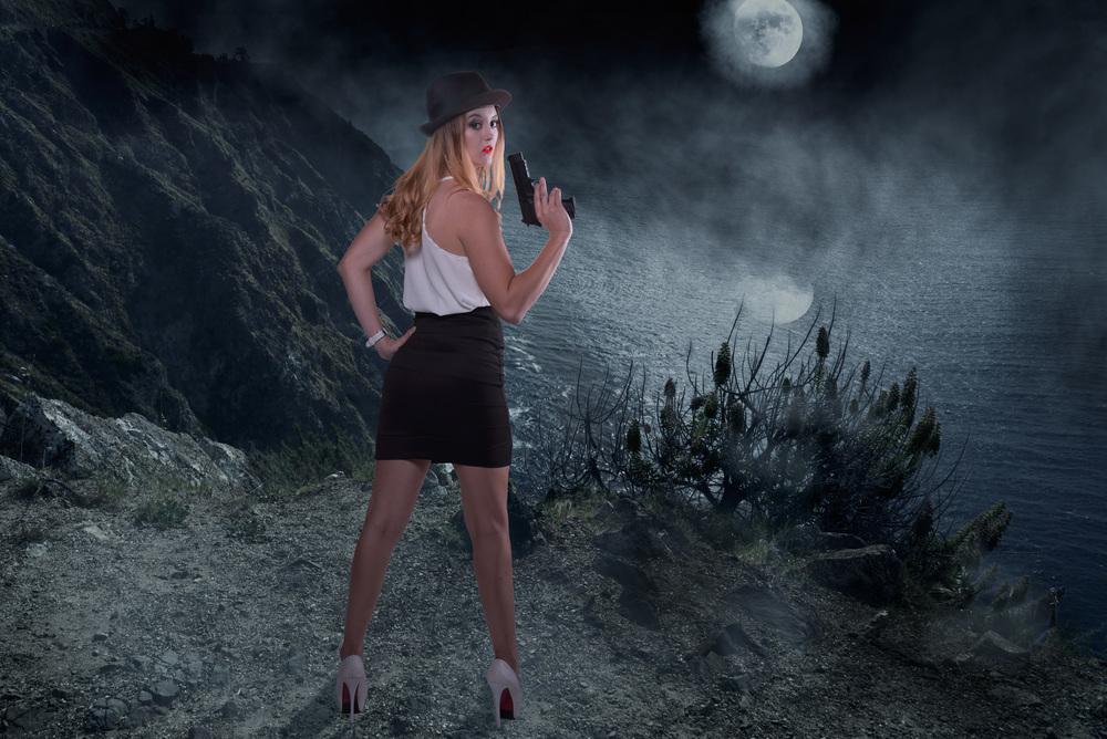 creative-woman-dark-night-cliff-moon-sea-seashore-sea shore-reflection-fashion-gun-dangerous-cool.jpg