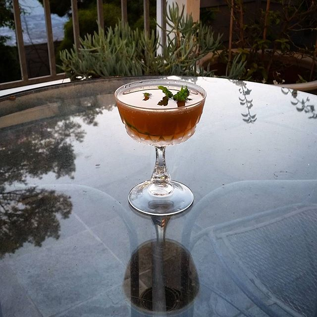 Summer, don't ever leave. Brown  Derby variation with Jamaican rum (aka Daiquiri).
