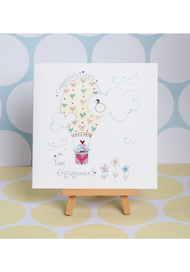 Congratulations On Your Engagement Greeting Card Ruby Doodle