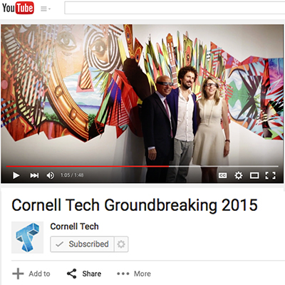 Cornell Tech NYC Groundbreaking