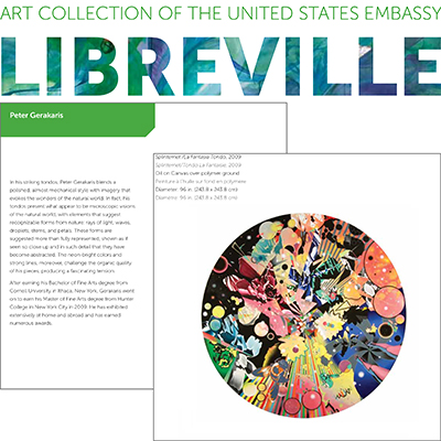 Peter D. Gerakaris in US Art in Embassies Permanent Collection - Libreville, Gabon