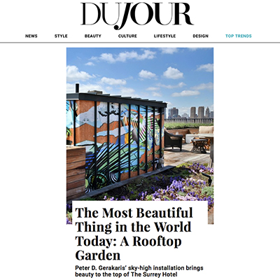 DuJour - The Most Beautiful Thing In The World: A Rooftop Garden