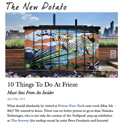 The New Potato - 10 Things To Do At Frieze