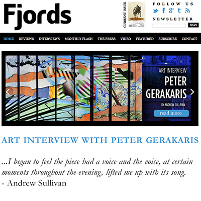 Peter D. Gerakaris in Fjords Review