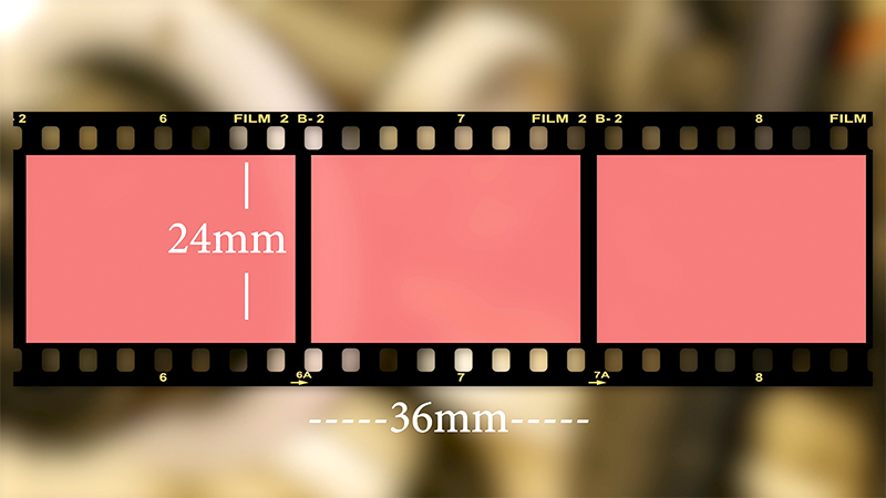 35mm still film, 8 perf per frame