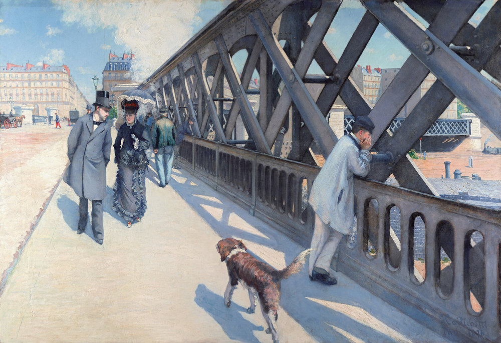 Can you sense the energy of the environment in Le Pont de L'Europe by Gustave Caillebotte?