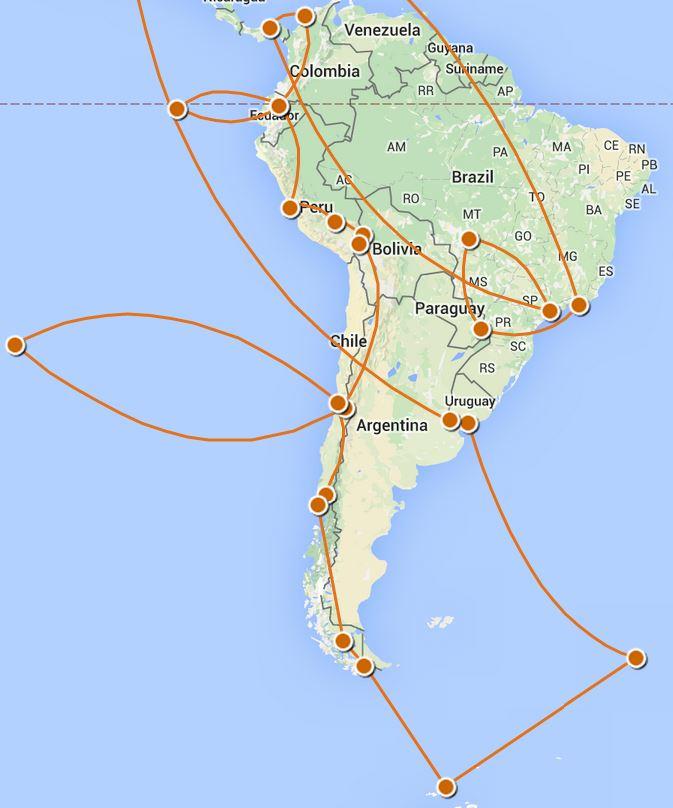 Next Phase: South America, November 3 - January 17