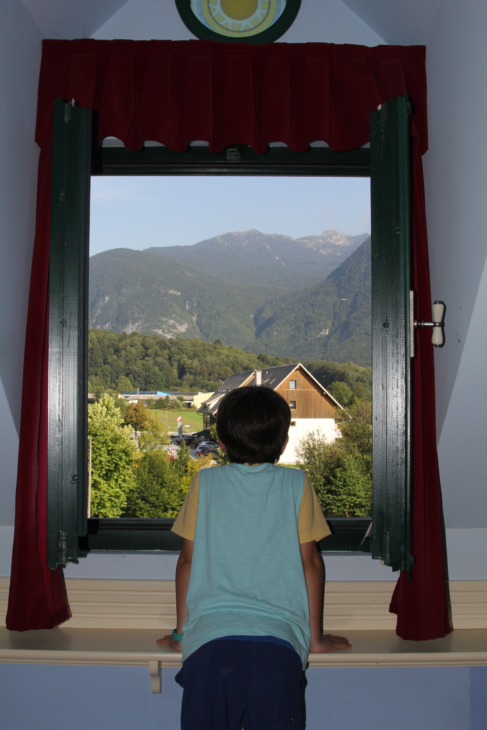 The view from our hotel in Bovec