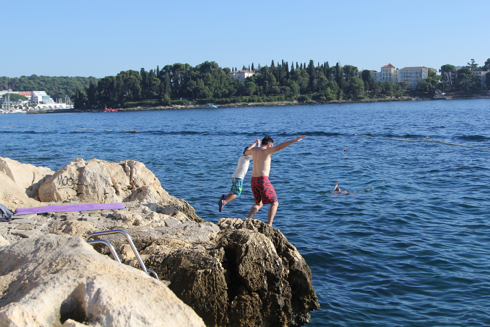 Making the leap in Rovinj