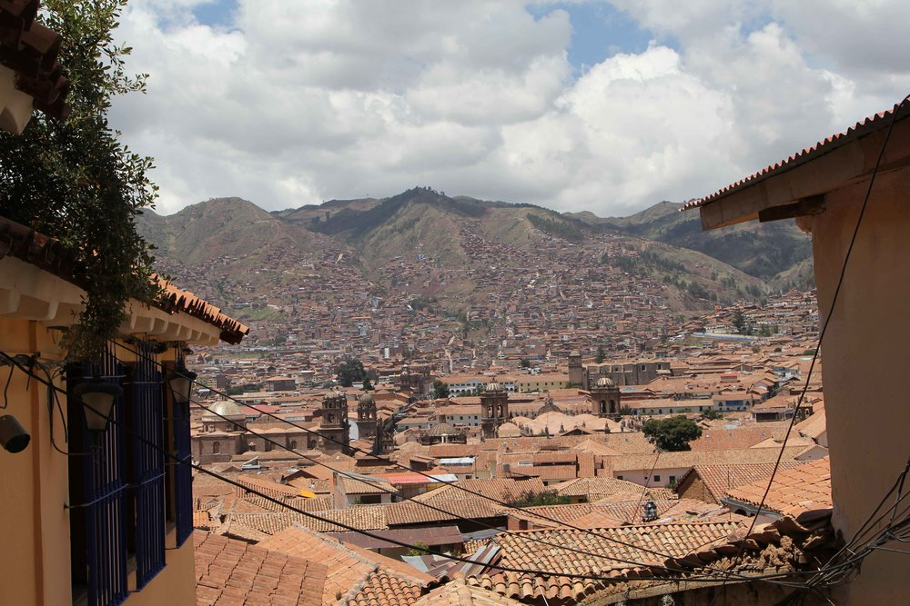 Cusco, as seen from San Blas