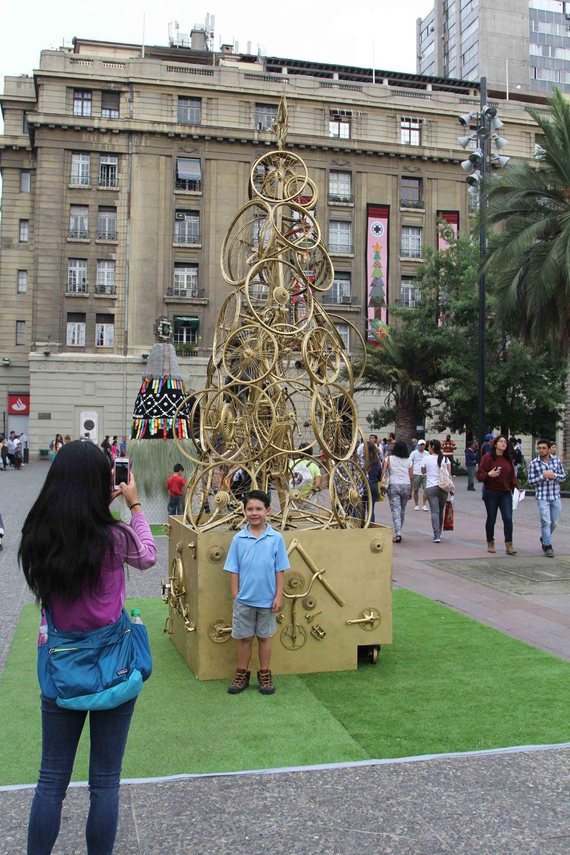 Plaza de Armas was in full holiday spirit