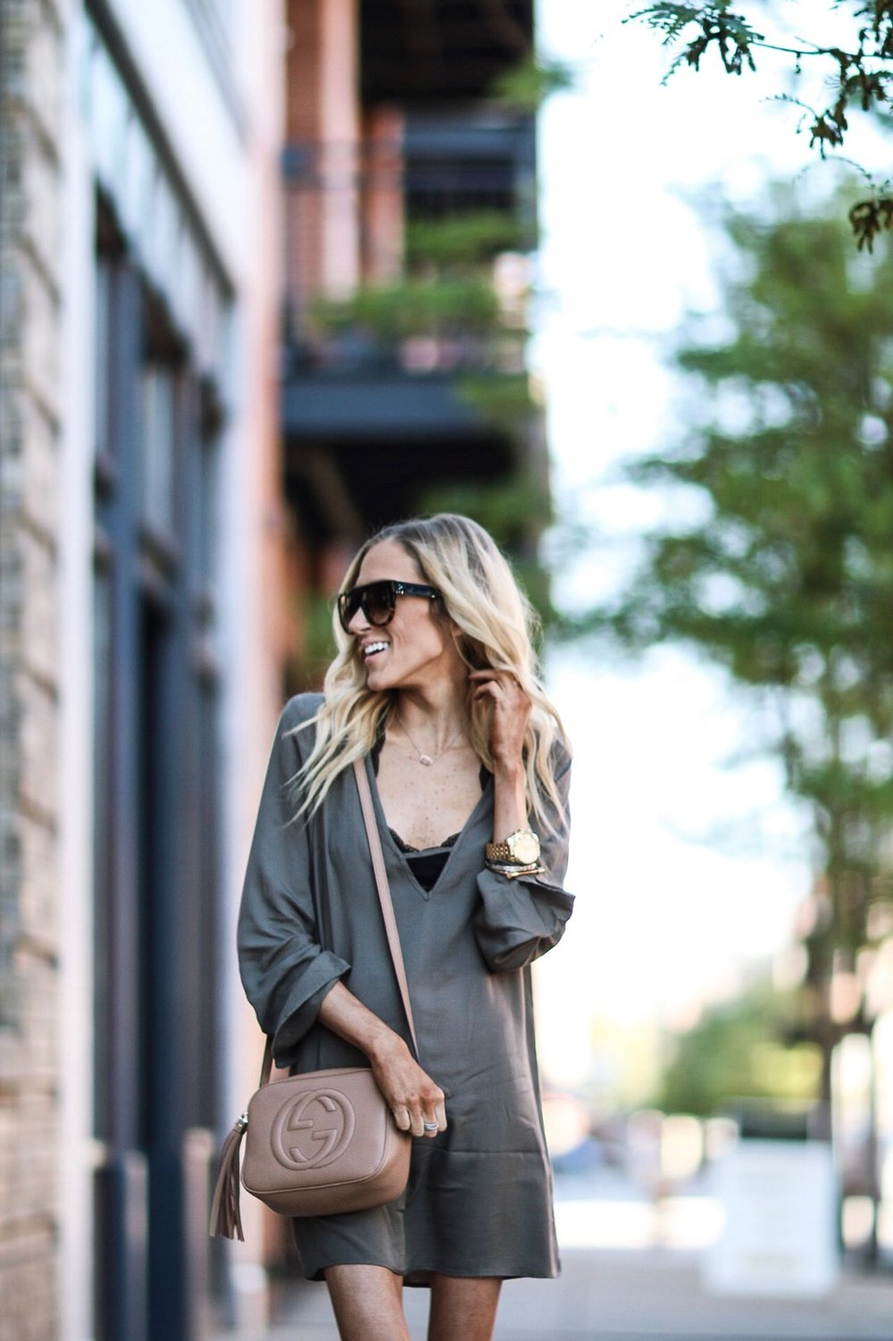 Olive Bell Sleeve Dress