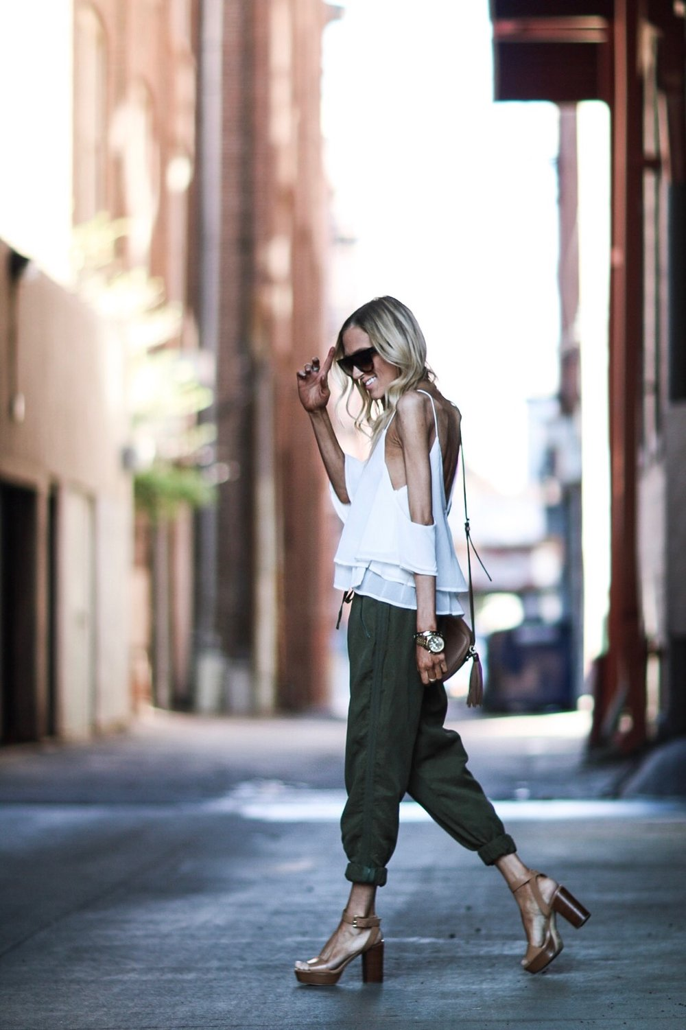 Cold Shoulder Tank + Joggers