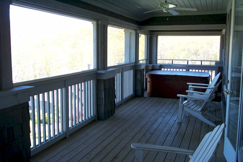 Hot Tub in each unit on Huge Screened Porch