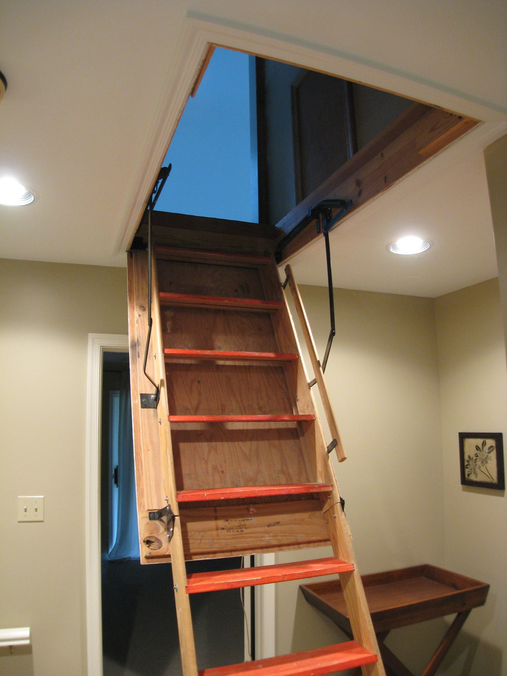 Finished Attic Access Staircase