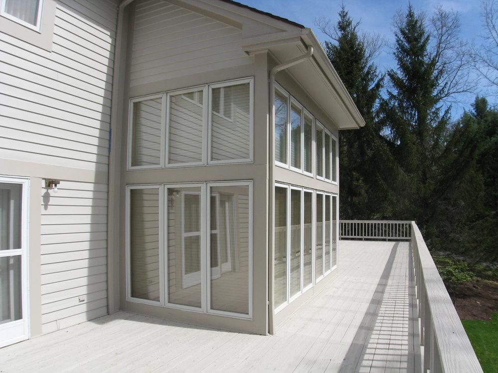 Open view deck
