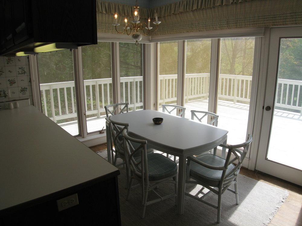 Breakfast Area in Kitchen Adjoining Deck