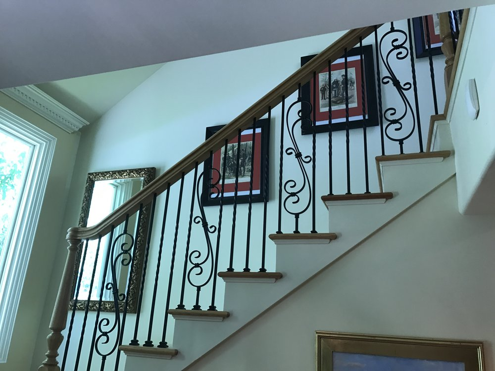 Custom Railings to Second Floor