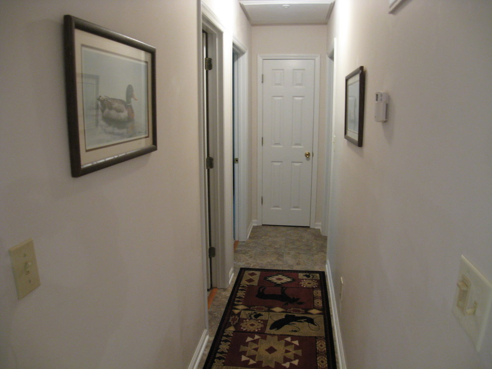 Hall to Bedrooms and Bath
