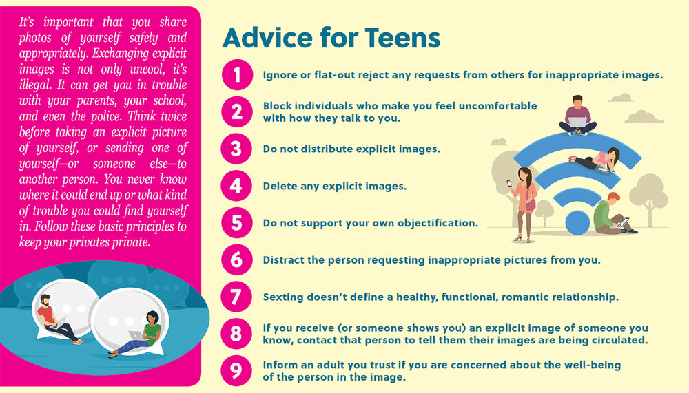 It's important that you share photos of yourself safely and appropriately. Exchanging explicit images is not only uncool, it's illegal. It can get you in trouble with your parents, your school, and even the police. Think twice before taking an explicit picture of yourself, or sending one of yourself—or someone else—to another person. You never know where it could end up or what kind of trouble you could find yourself in. Follow these basic principles to keep your privates private.