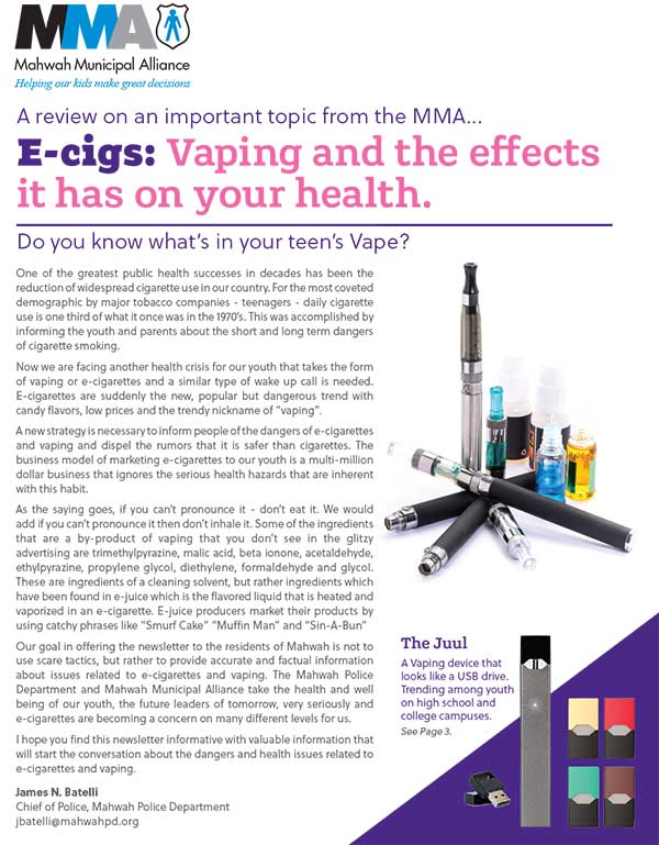 VAPING NEWSLETTER