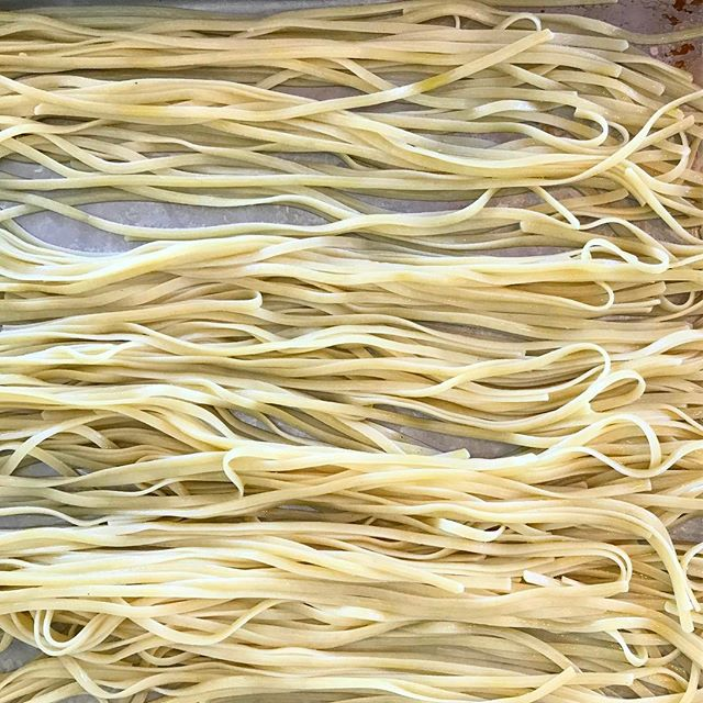All the noodles are organized on set with @hopperstyle and @milanazettel #cookbookinprogress