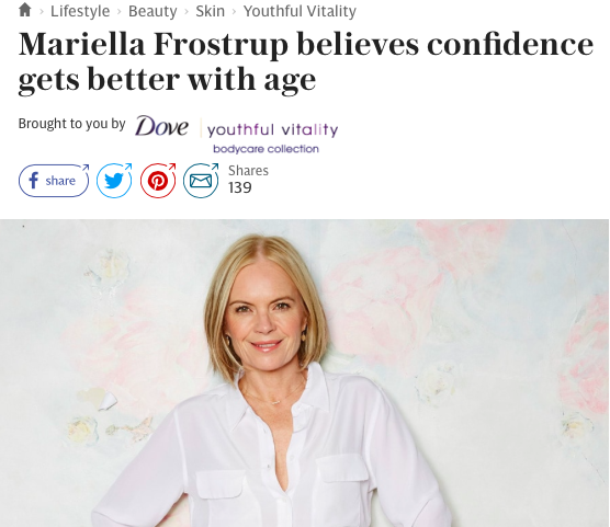 Telegraph Spark Dove Mariella Frostrup interview