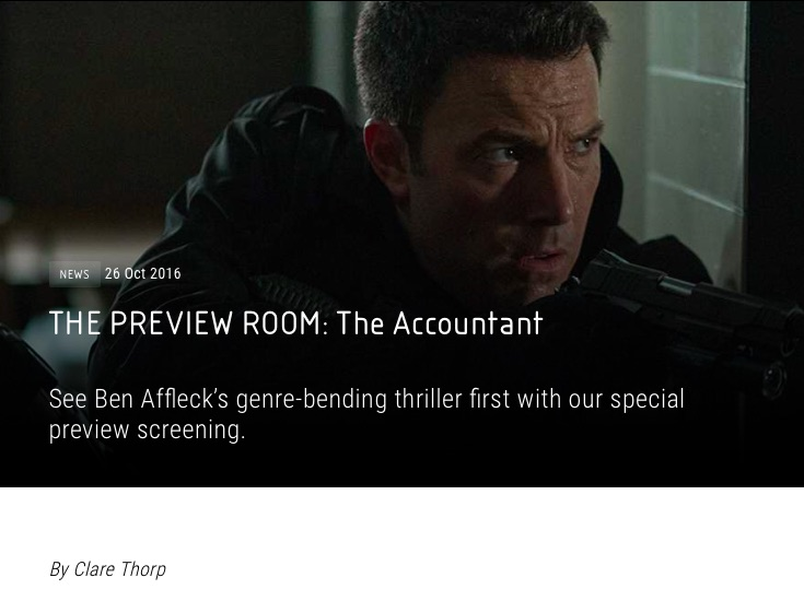 Vue Cinemas The Accountant