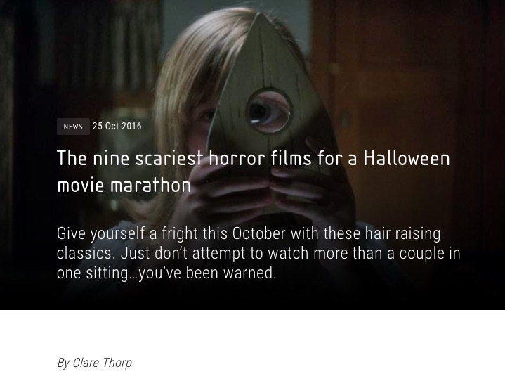Vue cinemas Best Halloween films