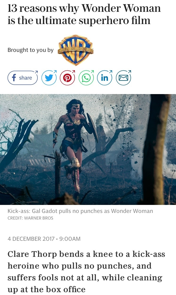 13 Reasons Wonder Woman is the ultimate superhero film