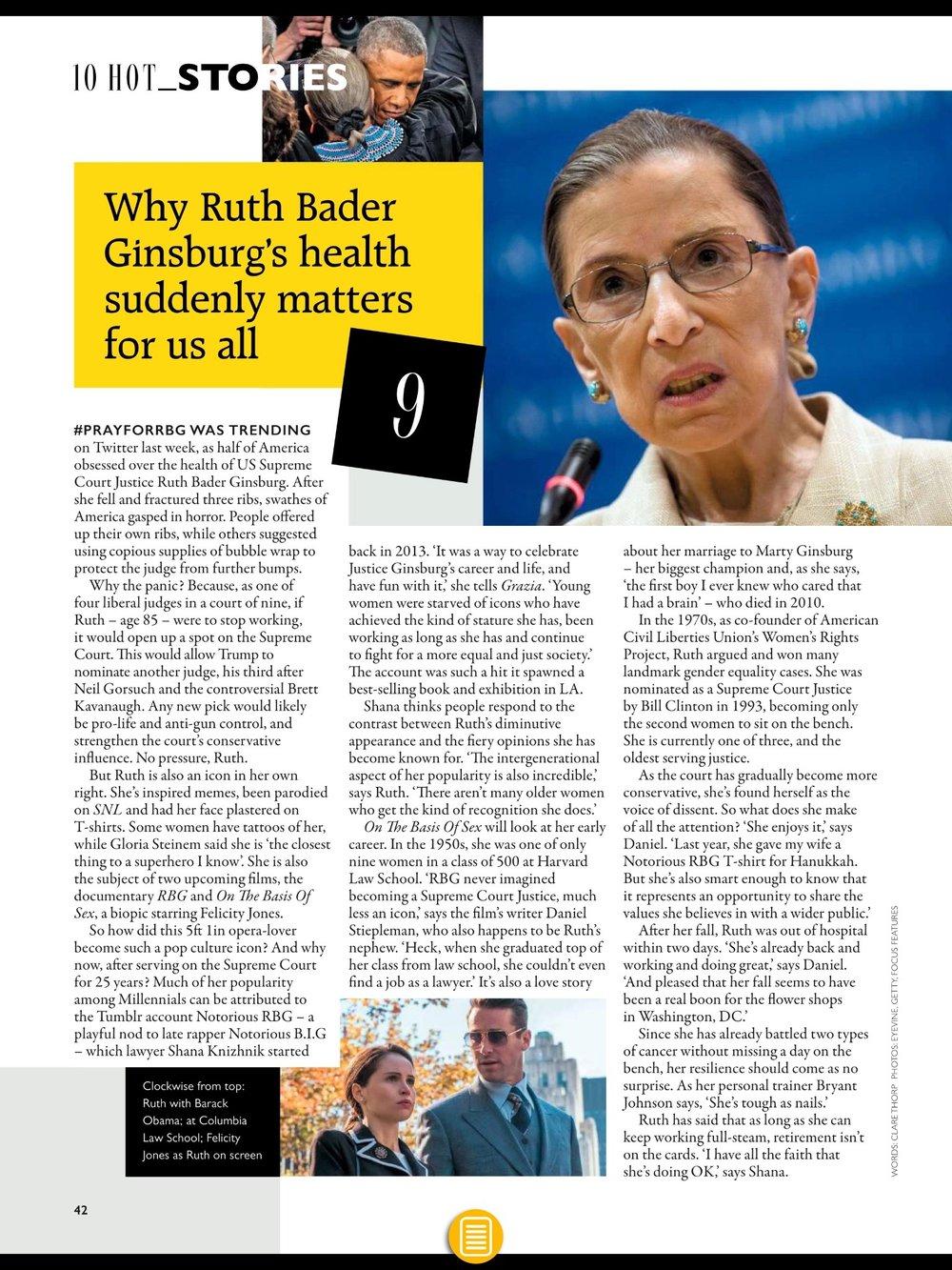 Ruth Bader Ginsburg Grazia