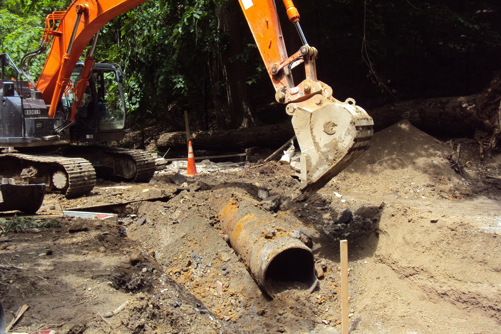 Removing the metal pipe