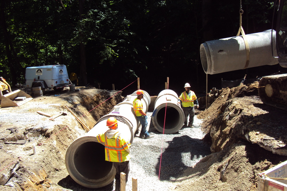 Installing the second pipe run