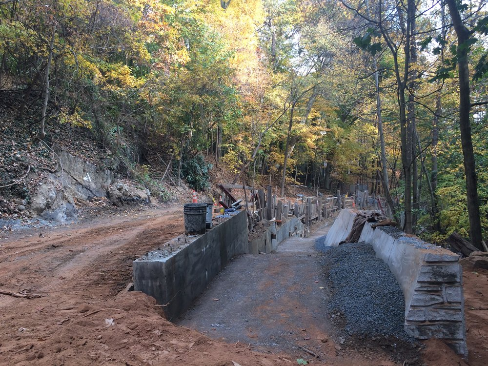 View of the East Retaining Wall during backfill operations