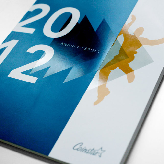 Developing concept and layout of the 2012 Annual Report for Coinstar Inc.