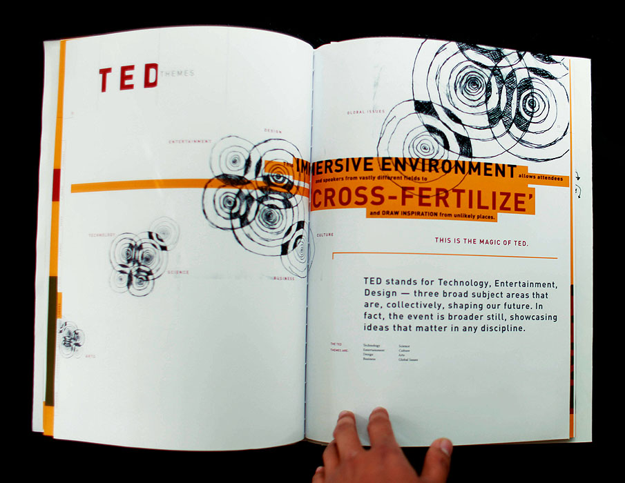 Developed concept and designed layout for book that promotes the TED conference.