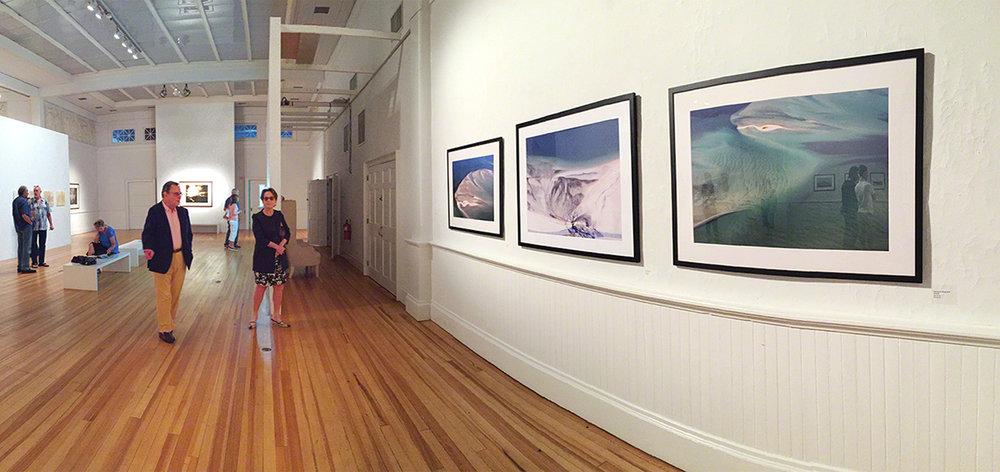 Exhibit installation at Southampton Arts Center, Southampton, NY.