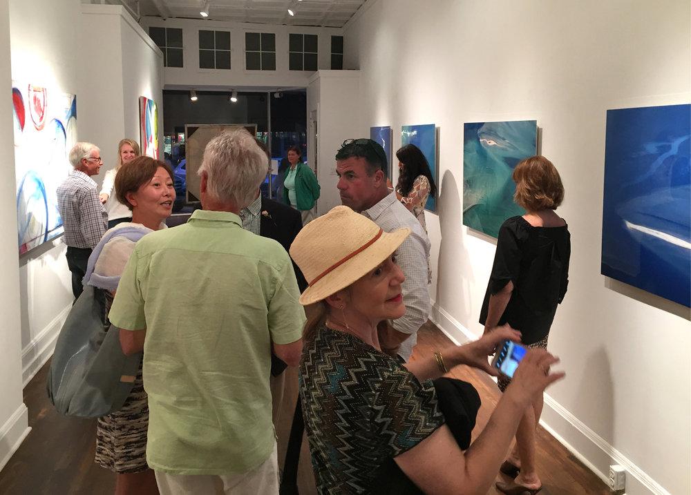 Exhibit installation at Monika Olko Gallery, Sag Harbor, NY.